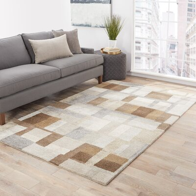 Ballylinney Gray/Brown Area Rug Rug Size: Rectangle 5 x 8