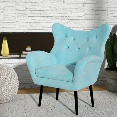 Bouck Wingback Chair Upholstery Color: Light Blue