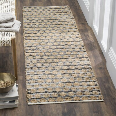 Blick Black/Natural Area Rug Rug Size: 9 x 12