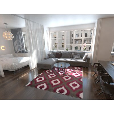 Marika Dark Gray Area Rug Rug Size: Rectangle 8 x 112