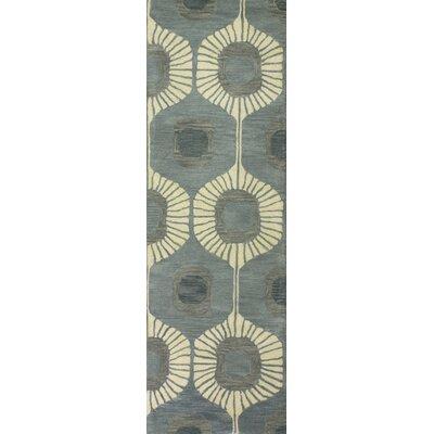 Fremont Wool Aqua Area Rug Rug Size: Runner 26 x 8