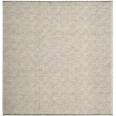 Daytona Beach Hand-Tufted Ivory Area Rug Rug Size: Square 6