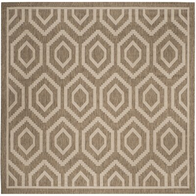 Miami Brown/Tan Indoor/Outdoor Area Rug Rug Size: Square 710