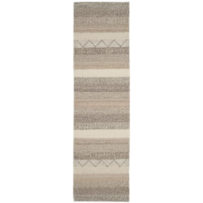 Daytona Beach Hand-Tufted Beige Area Rug Rug Size: Runner 23 x 8