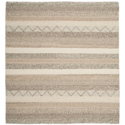 Daytona Beach Hand-Tufted Beige Area Rug Rug Size: Square 6