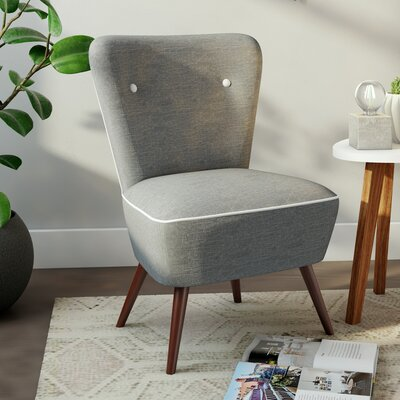 Portland Slipper Chair Color: Gray