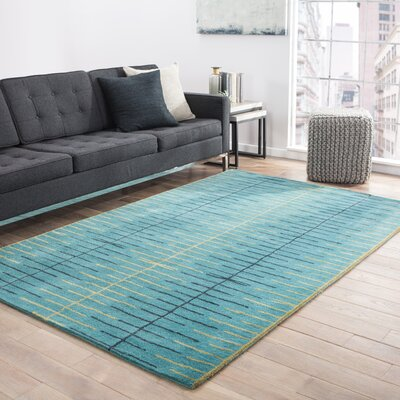Dickeys Town Hand-Tufted Blue Area Rug Rug Size: Rectangle 9 x 12