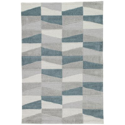 Stephanie Hand-Tufted Gray Area Rug Rug Size: Rectangle 76 x 96