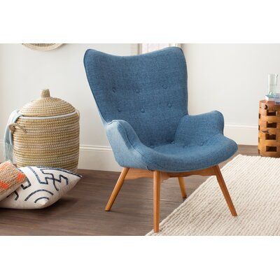 Canyon Vista Mid-Century Lounge Chair Upholstery: Blue