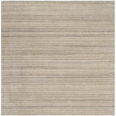 Aghancrossy Hand-Loomed Stone Area Rug Rug Size: Square 6 x 6