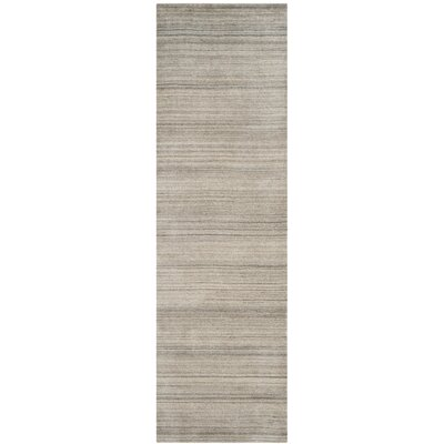 Aghancrossy Hand-Loomed Stone Area Rug Rug Size: Runner 23 x 8