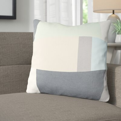 Aberdene Cotton Throw Pillow Size: 20 H x 20 W x 4 D, Color: Mint / Charcoal / Beige / Sky Blue