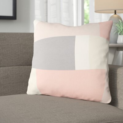 Aberdene Cotton Throw Pillow Size: 18 H x 18 W x 4 D, Color: Pale Pink / Gray / Beige / White