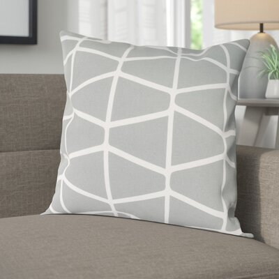 Halverson 100% Cotton Pillow Cover Size: 20 H x 20 W x 1 D, Color: GrayNeutral