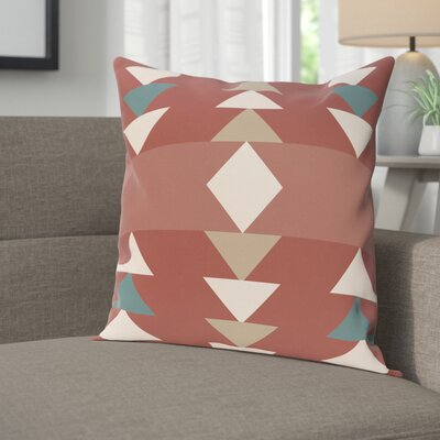 Blick Geometric Print Outdoor Throw Pillow Size: 18 H x 18 W, Color: Orange
