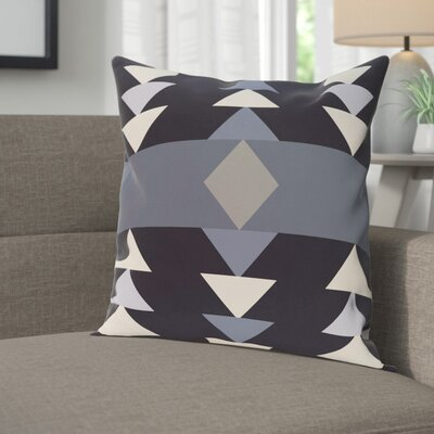 Blick Geometric Print Outdoor Throw Pillow Size: 18 H x 18 W, Color: Navy Blue
