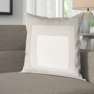 Akron 100% Cotton Pillow Cover Size: 18 H x 18 W x 1 D, Color: NeutralGray