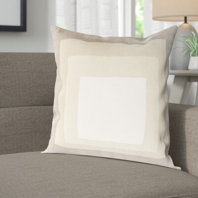 Akron 100% Cotton Pillow Cover Size: 18 H x 18 W x 1 D, Color: Neutral