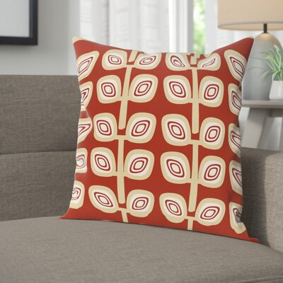 Youman Leaf Tree Geometric Print OutdoorThrow Pillow Size: 20 H x 20 W, Color: Orange