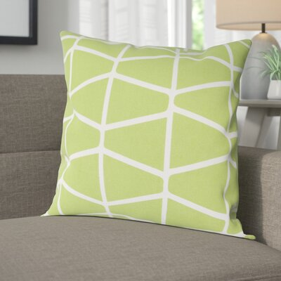 Halverson 100% Cotton Pillow Cover Size: 18 H x 18 W x 1 D, Color: GreenNeutral
