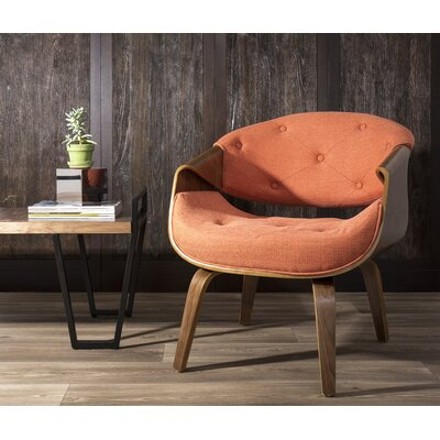 Lisburn Curvo Barrel Chair Upholstery: Orange