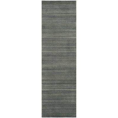 Aghancrossy Hand-Loomed Slate/Blue Area Rug Rug Size: Runner 23 x 8