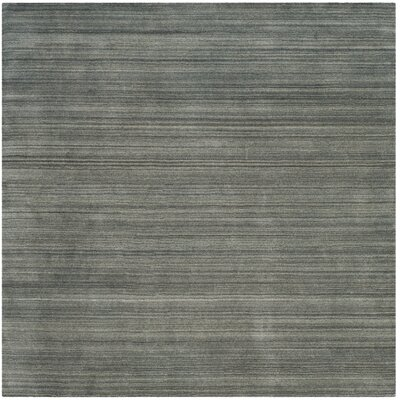 Aghancrossy Hand-Loomed Slate/Blue Area Rug Rug Size: Square 6 x 6