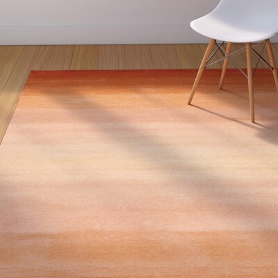 Belding Orange Horizon Area Rug Rug Size: 5 x 8