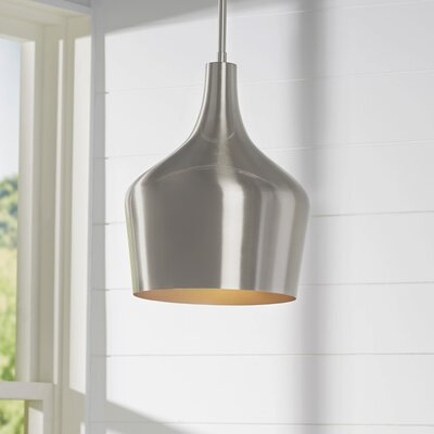 Knoxville 1-Light Mini Pendant Finish: Brushed Nickel