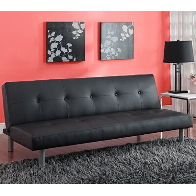 Algarve Convertible Sofa Upholstery: Black
