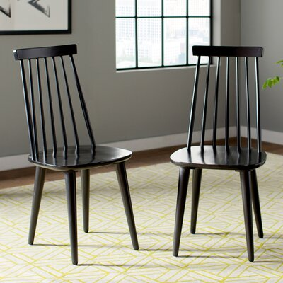 Clarence Side Chair Finish: Black