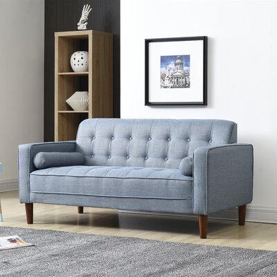 Isaac Sofa Finish: Blue