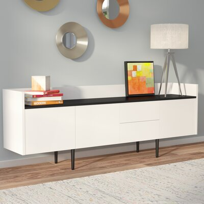 Majorca Sideboard Color: White/Walnut