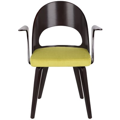 Cosmo Arm Chair Upholstery: Green