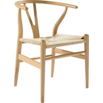 Villa Court Wishbone Solid Wood Dining Chair Finish: Natural Beechwood