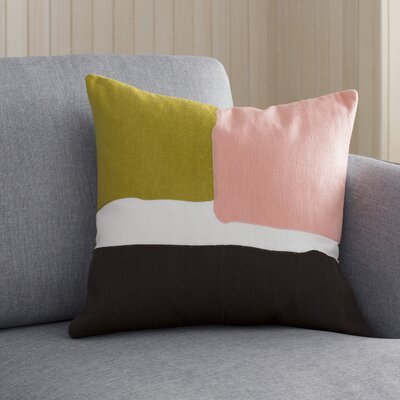 Escanaba Down Throw Pillow Size: 20 H x 20 W x 4 D, Color: Gold/Pastel Pink/Chocolate/Ivory