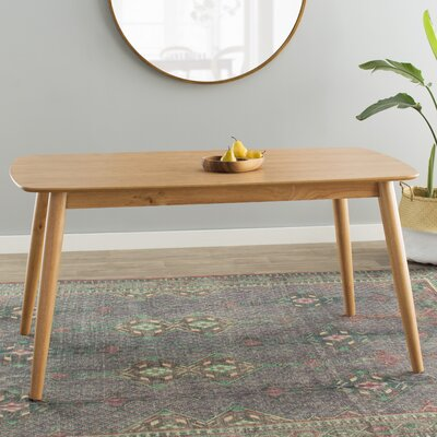 Chastain 60 Wood Dining Table Finish: Natural