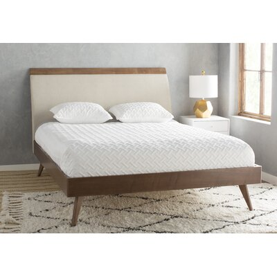 Leominster Upholstered Platform Bed Size: Twin, Finish: Walnut