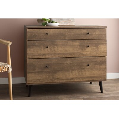 Norloti 3 Drawer Dresser Color: Distressed Brown