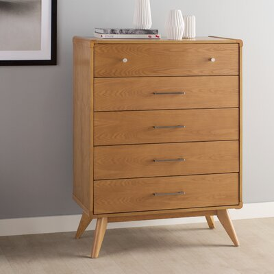 Leominster 5 Drawer Dresser Color: Natural