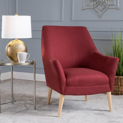 Blythe Armchair Upholstery: Deep Red