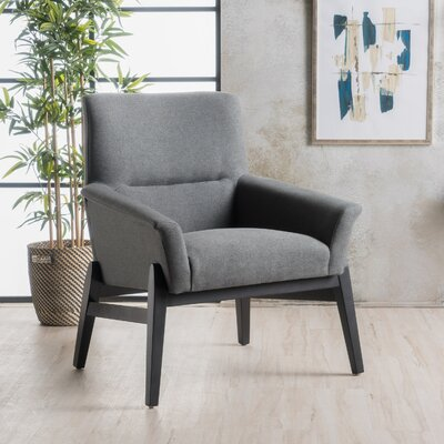 Fabric Armchair Upholstery: Charcoal