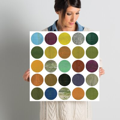 Rustic Rounds 4.0 Graphic Art on Wrapped Canvas Size: 18