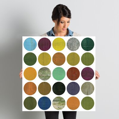 Rustic Rounds 4.0 Graphic Art on Wrapped Canvas Size: 26
