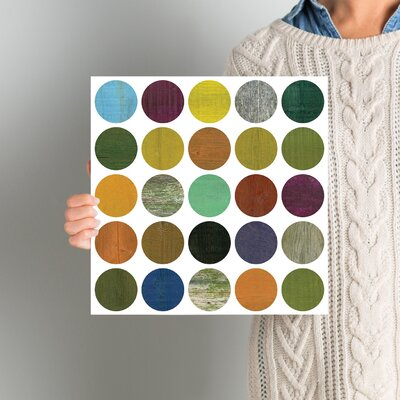 Rustic Rounds 4.0 Graphic Art on Wrapped Canvas Size: 12