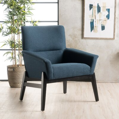 Fabric Armchair Upholstery: Navy Blue