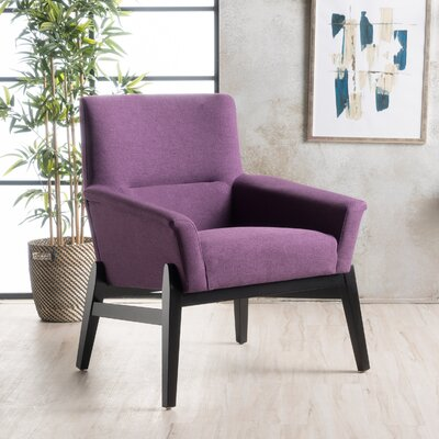 Kramer Fabric Armchair Upholstery: Purple
