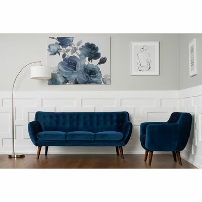 Martinique 2 Piece Sofa and Arm Chair Set Upholstery: Navy
