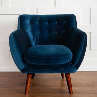 Martinique Tufted Armchair Upholstery: Navy