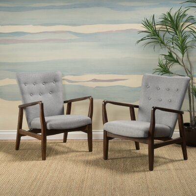 Sardinia Armchair Upholstery: Gray